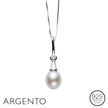 Argento Pearl Pendant Necklace