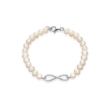 Argento Infinity Pearl Bracelet