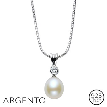 Argento Oval Pearl