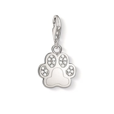 Thomas Sabo Silver Paw Print Charm  - Click to view larger image