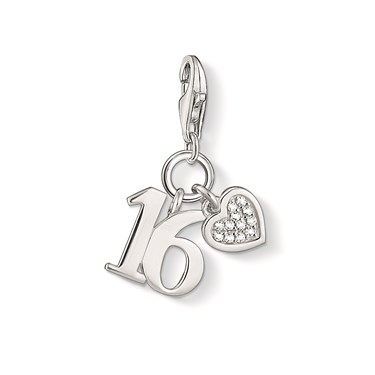 Thomas Sabo Silver Sweet 16 Charm  - Click to view larger image