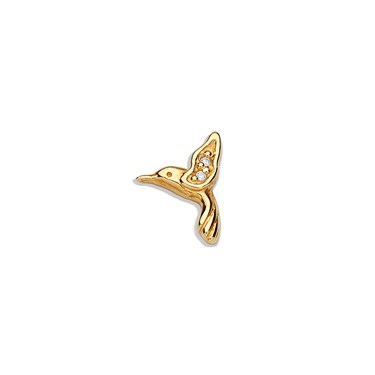 Storie Storie Gold CZ Hummingbird Charm  - Click to view larger image