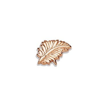 Storie Storie Rose Gold Feather Charm  - Click to view larger image