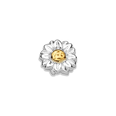 Storie Storie Silver Daisy Charm  - Click to view larger image