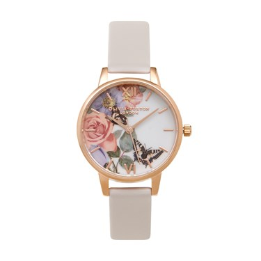 Olivia Burton Enchanted Garden Floral Blush Watch  - Click to view larger image
