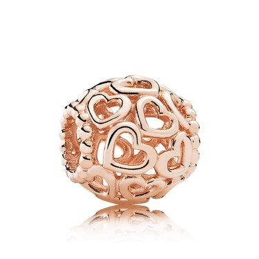 Pandora Rose Openwork Hearts Charm  - Click to view larger image