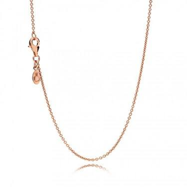 Pandora Rose Anchor Chain Necklace  - Click to view larger image
