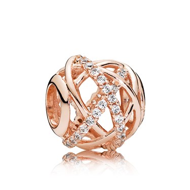 Pandora Rose Galaxy Openwork Charm  - Click to view larger image