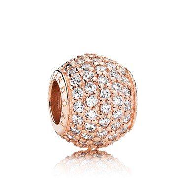 Pandora Rose Pavé Ball Charm  - Click to view larger image