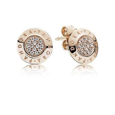 Pandora Rose Signature Stud Earrings  - Click to view larger image