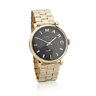 Marc by Marc Jacobs Baker Black Dial Gold Bracelet Watch