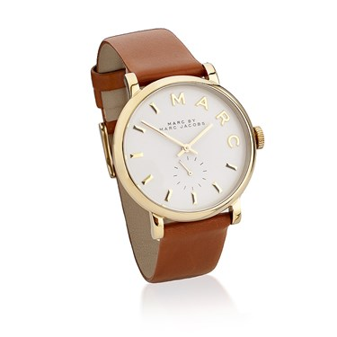 Marc by Marc Jacobs Baker Tan Leather Gold Watch  - Click to view larger image