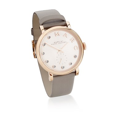 Marc by Marc Jacobs Baker Dexter Grey Leather Rose Gold Watch