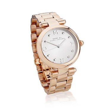 Marc by Marc Jacobs Dotty Silver Dial Rose Gold Bracelet Watch