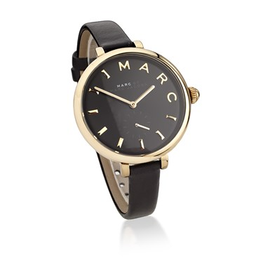 Marc by Marc Jacobs Sally Black Dial Black Leather Watch