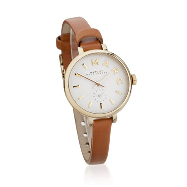 Marc by Marc Jacobs Sally White Dial Tan Leather Watch