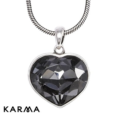 Karma Large Crystal Heart Necklace