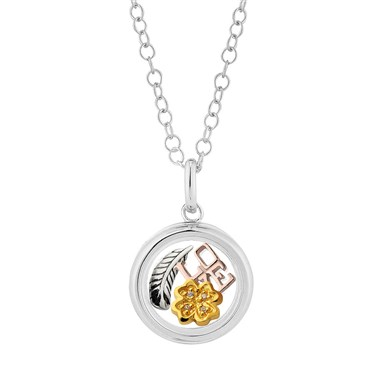 Storie Faith, Love and Luck Silver Locket Gift Set  - Click to view larger image