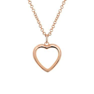 Storie Rose Gold Heart Locket  - Click to view larger image