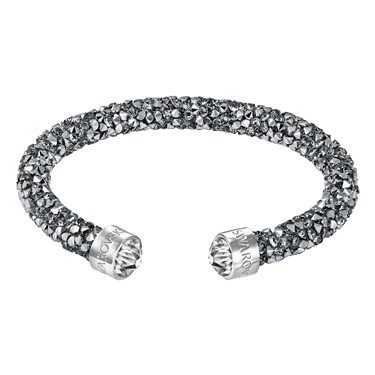Swarovski Crystaldust Grey Cuff Bangle  - Click to view larger image