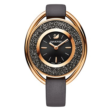 Swarovski Crystalline Oval Grey Rose Watch  - Click to view larger image