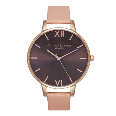 Olivia Burton Brown Dial Dusty Pink Watch  - Click to view larger image