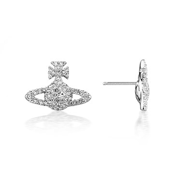Vivienne Westwood Grace Bas Relief Stud Earrings  - Click to view larger image