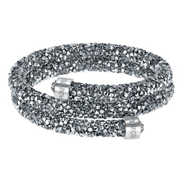 Swarovski Crystaldust Double Grey Bangle  - Click to view larger image