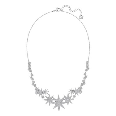 Swarovski Fizzy  Rhodium Necklace