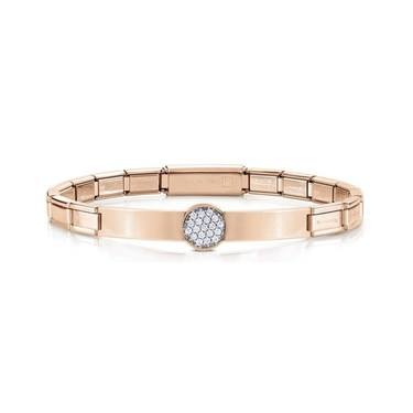 Nomination Trendsetter Pavé Rose Gold Bracelet  - Click to view larger image