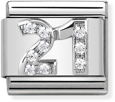 Nomination 21st Birthday Charm  - Click to view larger image