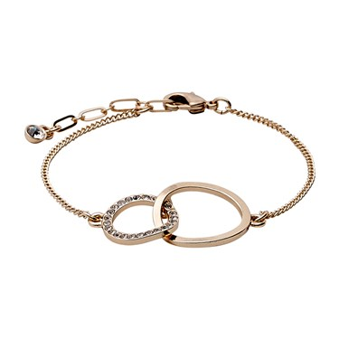 Pilgrim Victoria Rose Gold Plated Bracelet  - Click to view larger image