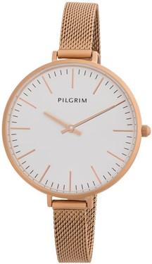 PILGRIM Large Face Rose Gold Mesh Watch