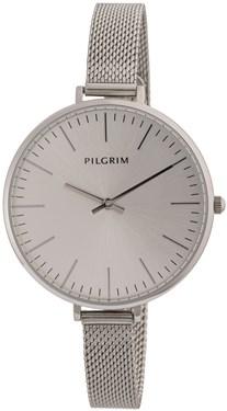 PILGRIM Large Face Silver Mesh Watch