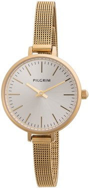 PILGRIM Small Face Gold Plated Mesh Watch