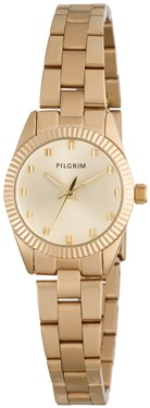 PILGRIM Small Face Gold Plated Link Watch