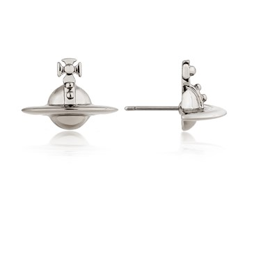 Vivienne Westwood Gunmetal Orb Studs  - Click to view larger image