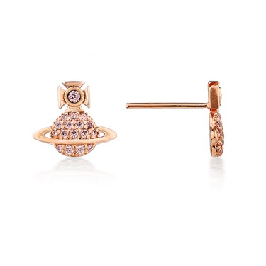 Vivienne Westwood Rose Gold Tamia Earring  - Click to view larger image