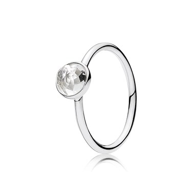 Pandora April Droplet Birthstone Ring  - Click to view larger image