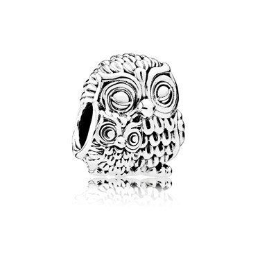 Pandora Charming Owls Charm  - Click to view larger image