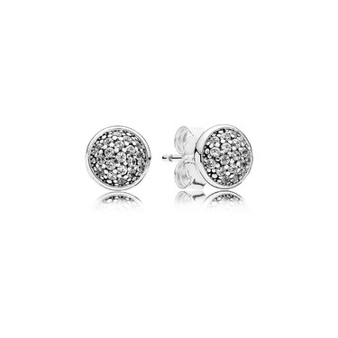 PANDORA Dazzling Silver Droplets Stud Earrings  - Click to view larger image