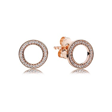 Pandora Forever Crystal Circle Earrings  - Click to view larger image