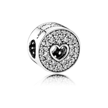 Pandora Happy Anniversary Clear Crystal Charm  - Click to view larger image