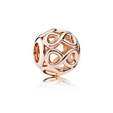 Pandora Infinite Shine Rose Charm  - Click to view larger image