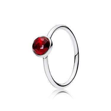 Pandora July Droplet Birthstone Ring  - Click to view larger image