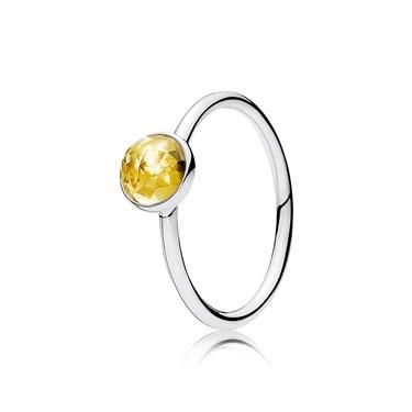 d90844465 Pandora November Droplet Birthstone Ring - Click to view larger image
