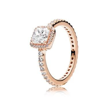 Pandora Timeless Elegance Crystal Rose Ring  - Click to view larger image