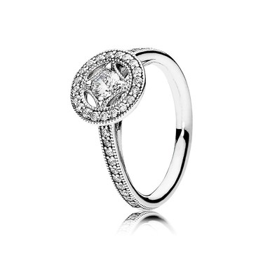 Pandora Vintage Allure Crystal Silver Ring  - Click to view larger image