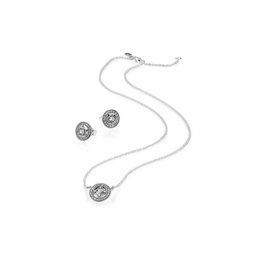 Pandora Vintage Allure Silver Crystal Gift Set  - Click to view larger image