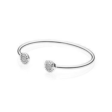 PANDORA Silver Signature Bangle  - Click to view larger image